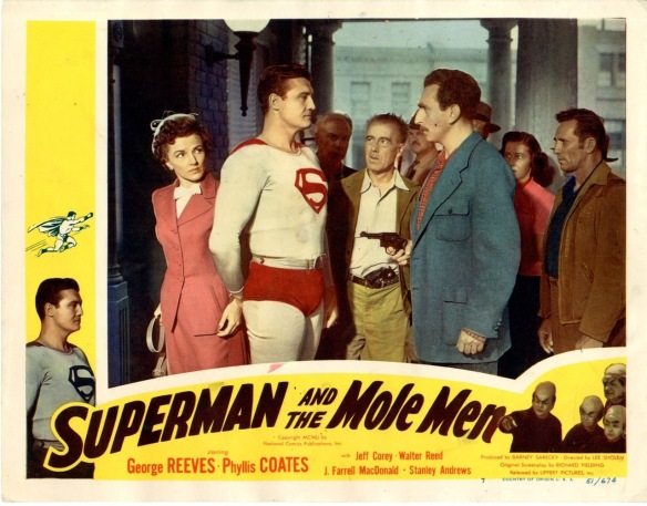 Superman And The Mole Men (1951) lobby card. George Reeves, Phyllis Coates