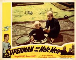 Superman And The Mole Men (1951) lobby card.