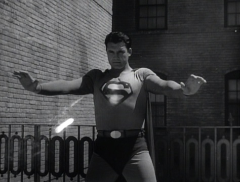 Superman And The Mole Men (1951) still. George Reeves