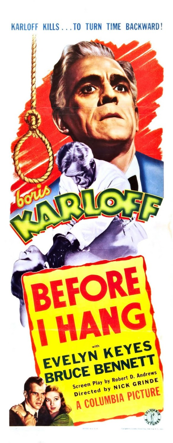 Before I Hang poster (Boris Karloff)