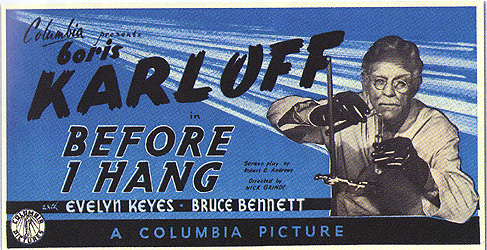 Before I Hang publicity (Boris Karloff)
