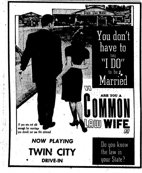 COMMON LAW WIFE (1963) poster