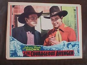 COURAGEOUS AVENGER (1935) JOHNNY MACK BROWN. LOBBY CARD