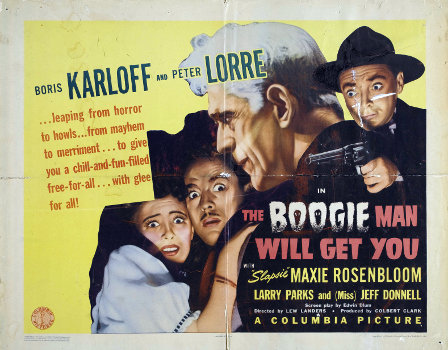 """The Boogie Man Will Get You%22 poster Boris Karloff Peter Lorre"
