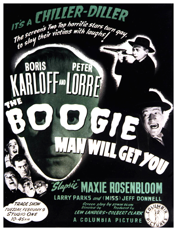 """The Boogie Man Will Get You%22 poster Boris Karloff, Peter Lorre"