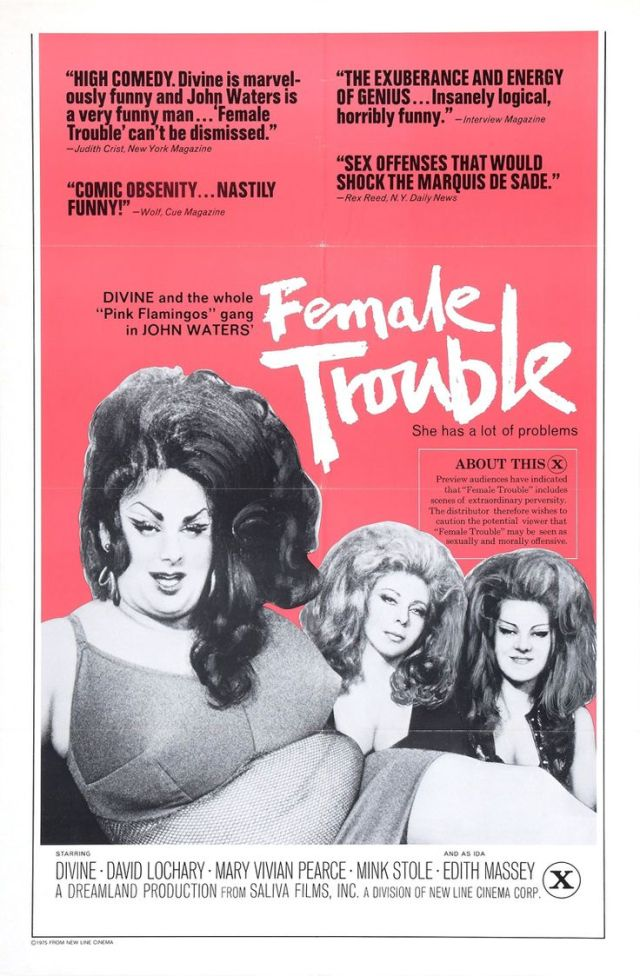 Female Trouble (John Waters) poster