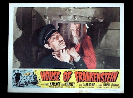House Of Frankenstein Lobby Card (Boris Karloff)