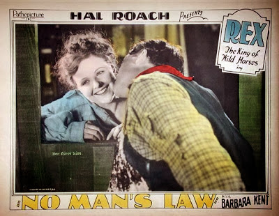 No Man's Law (1927) lobby card