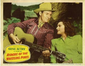 RIDERS OF THE WHISTLING PINES (1949) GENE AUTRY. LOBBY CARD