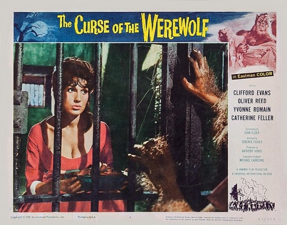 THE CURSE OF THE WEREWOLF (1961 dir. Terence Fisher) lobby card