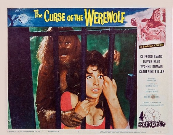 THE CURSE OF THE WEREWOLF (1961) lobby card