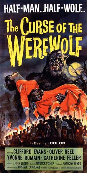 THE CURSE OF THE WEREWOLF (1961) poster