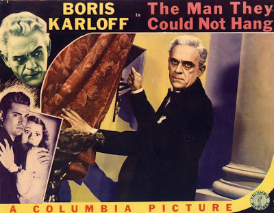 The Man They Could Not Hang lobby card (Boris Karloff)