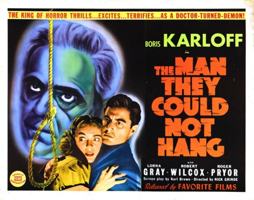 The Man They Could Not Hang poster (Boris Karloff)