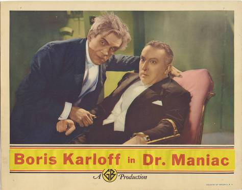 The Man Who Lived Again (aka The Man Who Changed His Mind) lobby card (Boris Karloff)