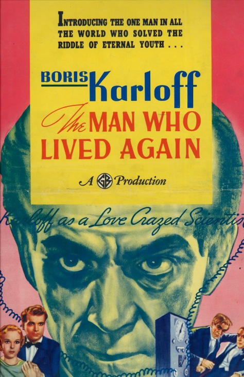 The Man Who Lived Again poster (Boris Karloff)