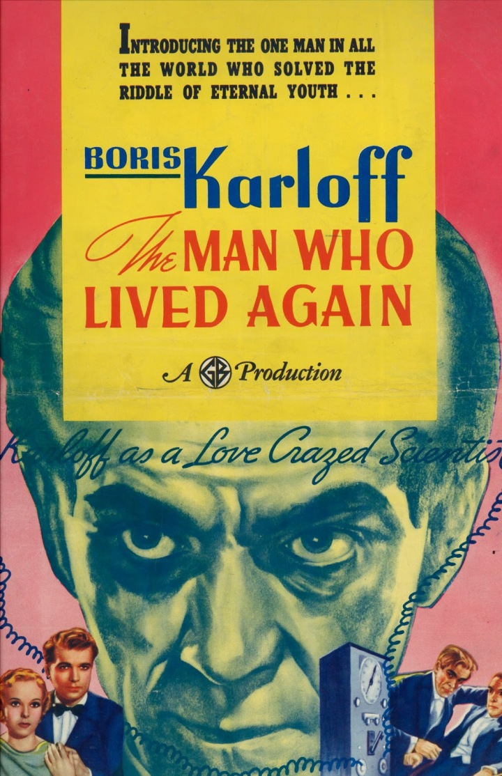 The Man Who Lived Again poster (Boris Karloff)