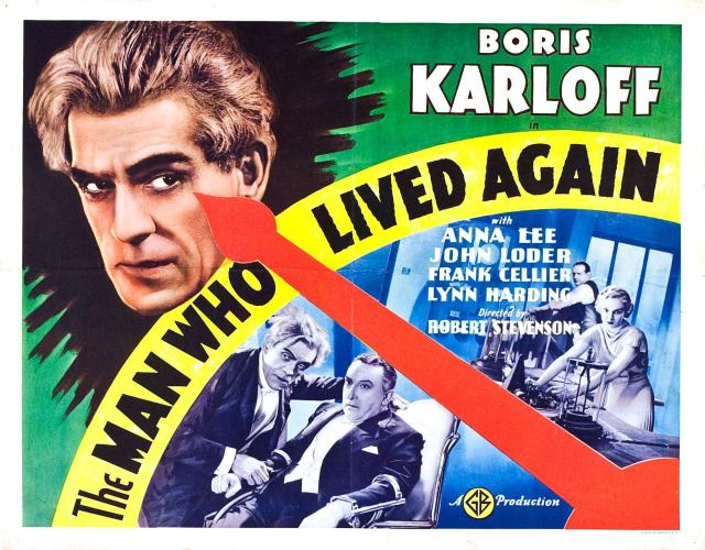 The Man Who Lived Again poster. (Boris Karloff)