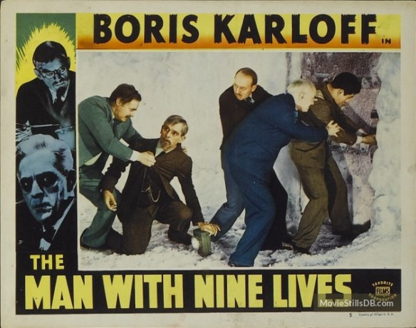 The Man With Nine Lives lobby card (Boris Karloff)