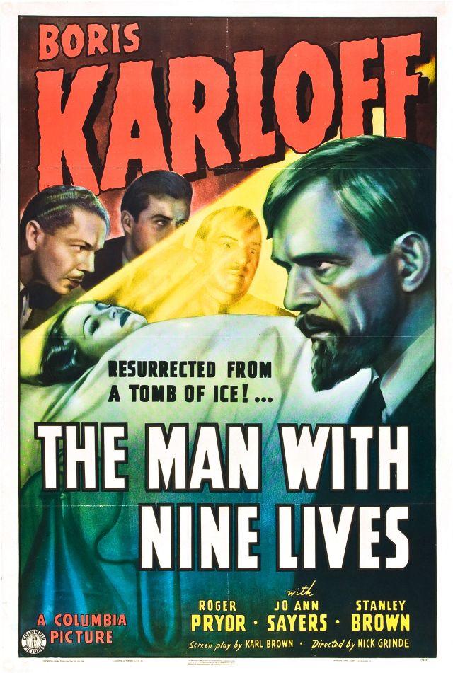 The Man With Nine Lives poster (Boris Karloff)