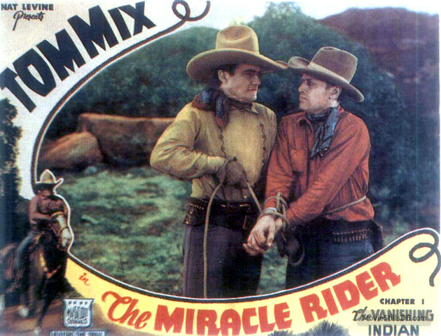 THE MIRACLE RIDER (1935) lobby card starring Tom Mix