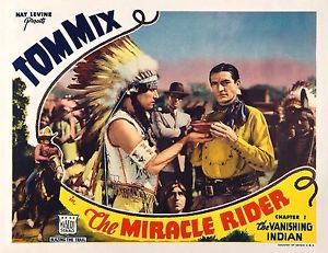 THE MIRACLE RIDER (1935) lobby card. Tom Mix