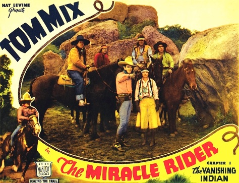 THE MIRACLE RIDER (1935) Tom Mix. lobby card