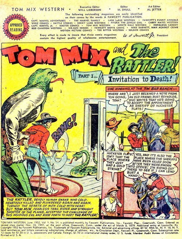 Tom Mix comics (1952)