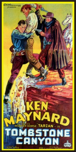 TOMBSTONE CANYON (1932) poster