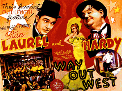 Way Out West 1937 poster laurel and Hardy