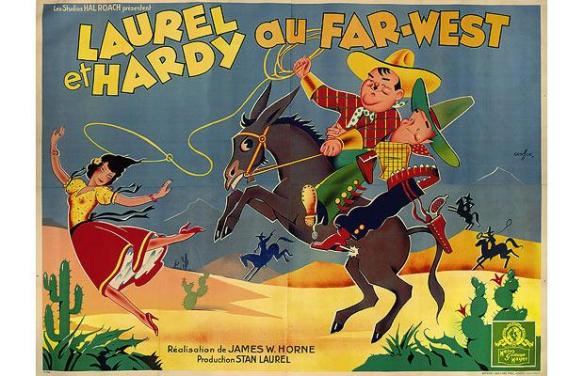 Way Out West French poster