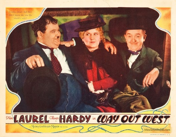 Way Out West lobby card ( Stan Laurel, Oliver Hardy, Vivien Oakland)