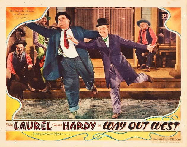 Way Out West lobby card (Stan Laurel & Oliver Hardy)