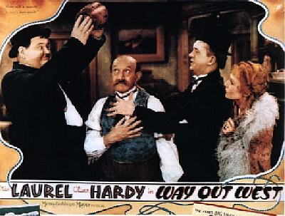 Way Out West lobby card