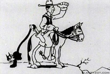 %22Felix in Hollywood%22 (1923) Felix with Willam S. Hart