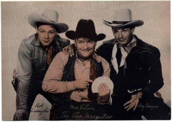 %22The Three Mesquiteers%22 Bob Livingston, Max Turhune and Ray %22Crash%22 Corrigan.