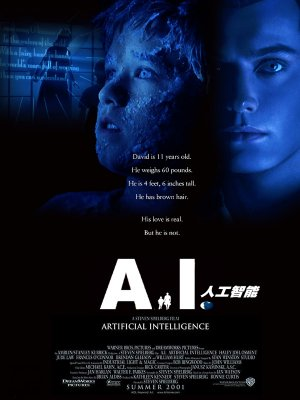A.I. Artificial Intelligence (2001 Spielberg) Theatrical poster