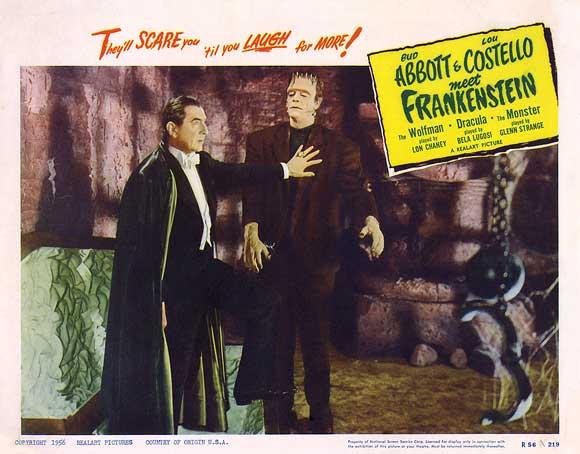 Abbott & Costello Meet Frankenstein (1948) lobby card. Bela Lugosi, Glenn Strange