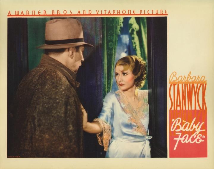 Baby Face (1933) Barbara Stanwyck. Lobby card