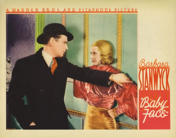 Baby Face (1933 Dir. Green) Barbara Stanwyck. Lobby card