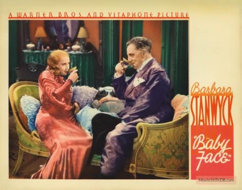 Baby Face (1933 Dir. Green) Barbara Stanwyck. Lobby card