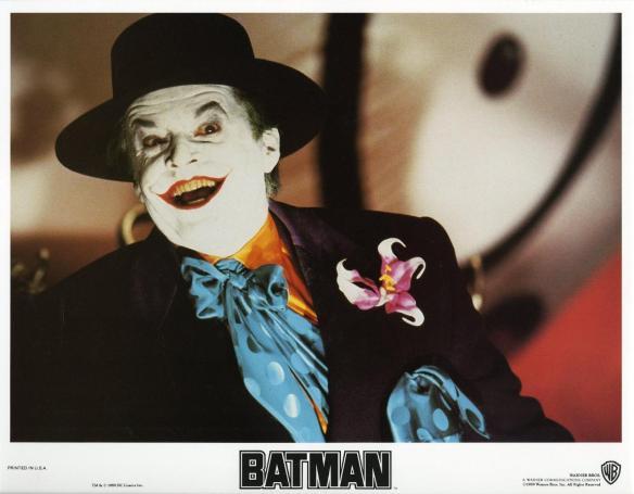 BATMAN (1989) lobby card. Jack Nicholson
