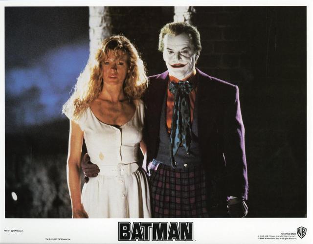 BATMAN (1989) lobby card. Kim Basinger, Jack Nicholson