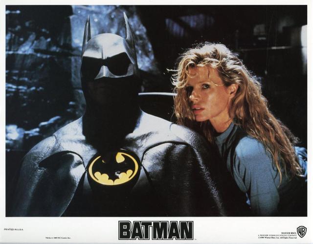 BATMAN (1989) lobby card. Michael Keaton, Kim Basinger