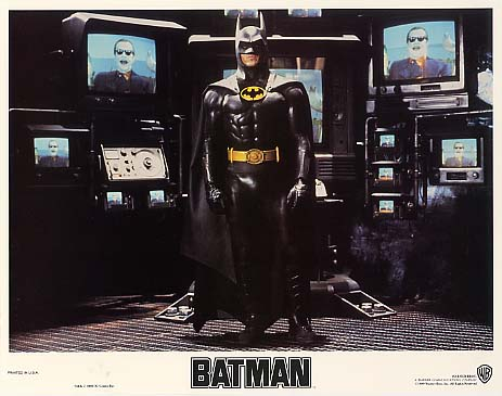 BATMAN (1989) lobby card. Michael Keaton
