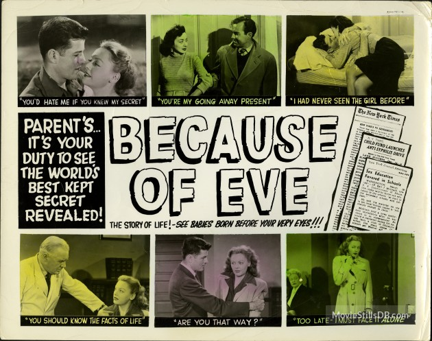 Because of Eve (1948) lobby card.