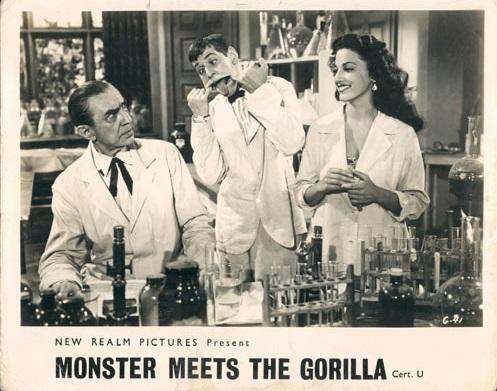 BELA LUGOSI MEETS A BROOKLYN GORILLA (1952) lobby card