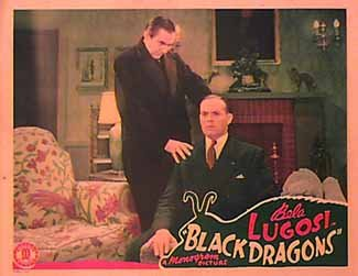 BLACK DRAGONS (1944) Bela Lugosi. lobby card.