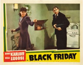 BLACK FRIDAY (1940) lobby card. Bela Lugosi, Anna Nagel