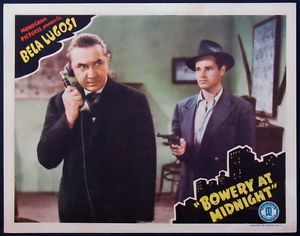 BOWERY AT MIDNIGHT (1943) Bela Lugosi lobby card